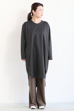 SIWALY(シワリー) round hem チュニック  charcoal gray