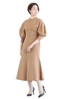 Mame Kurogouchi(マメ) Classic Cotton Dress  BROWN