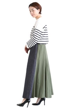 MOOLA KALAH(モーラカーラ) Combination Sweat Skirt