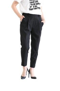 SIWALY(シワリー) Tucked Easy Pants  black