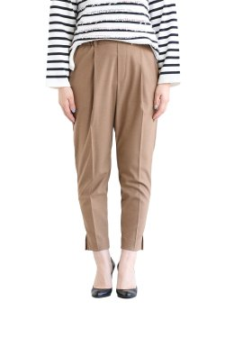 SIWALY(シワリー) Tucked Easy Pants  camel