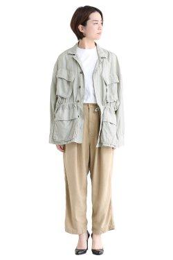 unfil(アンフィル) cotton&silk-twill military jacket