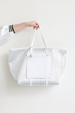 ELENDEEK(エレンディーク) ECO LEATHER MIX TOTE BAG  SIL