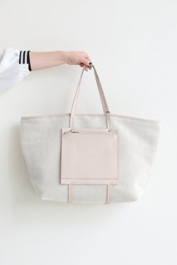 ELENDEEK(エレンディーク) ECO LEATHER MIX TOTE BAG  NUD