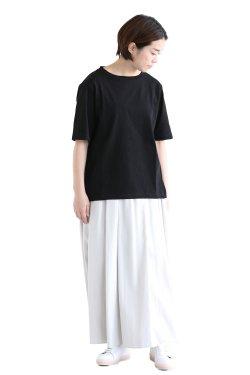 unfil(アンフィル) organic cotton back slit Tee  black