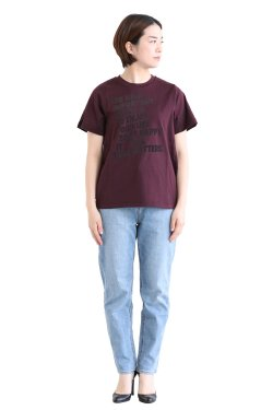 araara(アラアラ) Message Logo T-shirt  brown