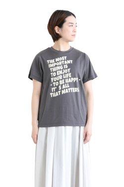 araara(アラアラ) Message Logo T-shirt  charcoalgray