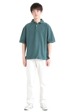 unfil(アンフィル) 【MENS】organic cotton-pique half sleeve polo shirt  green