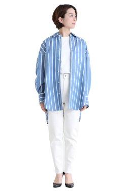 MACPHEE(マカフィ) TENCELL TWILL オーバーサイズシャツ ブルー系