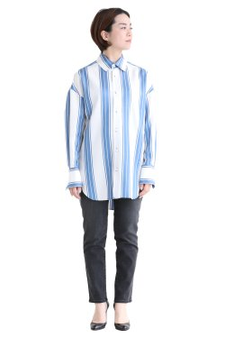 MACPHEE(マカフィ) TENCELL TWILL オーバーサイズシャツ ライトブルー系