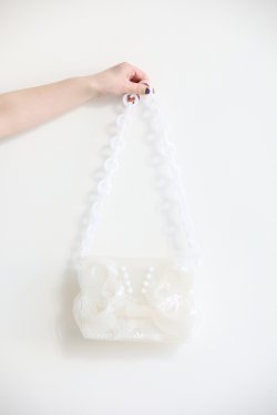 Mame Kurogouchi(マメ) Vinyl Chloride Mini Chain Bag  WHITE