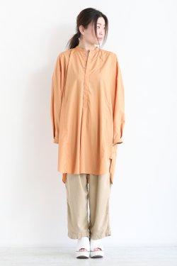 unfil(アンフィル) washed cotton-poplin oversized shirt