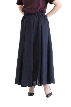 araara(アラアラ) Sheer Flare Skirt  navy