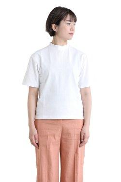 SONO(ソーノ) ハイネックスクエアTシャツ WHITE