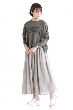 araara(アラアラ) Back Drape Logo T-shirt  khaki