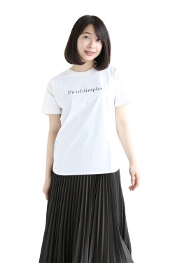 SONO(ソーノ) Pit of dimples TEE  WHITE