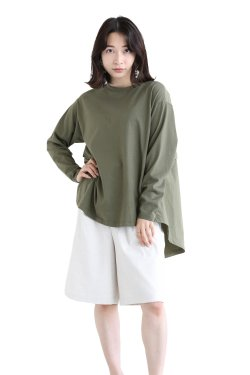 MOOLA KALAH(モーラカーラ) Military Back Pullover  khaki