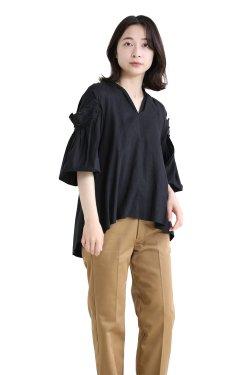MUVEIL(ミュベール) スズラン刺繍ブラウス  black