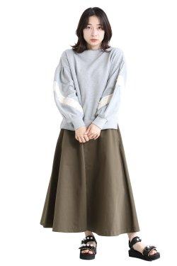 MUVEIL(ミュベール) スズラン刺繍裏毛プルオーバー  gray