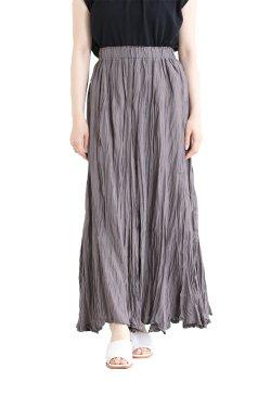 araara(アラアラ) Sheer Linen Volume Skirt  brown