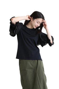 MUVEIL(ミュベール)フリルスリーブTシャツ