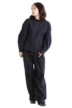 Mame Kurogouchi(マメ) Cotton Jersey Pullover  NAVY