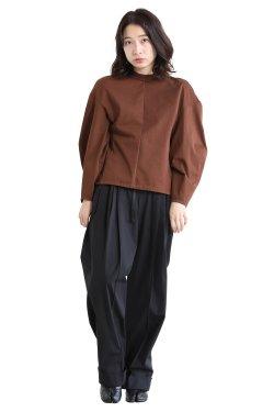 Mame Kurogouchi(マメ) Cotton Jersey Pullover  BROWN