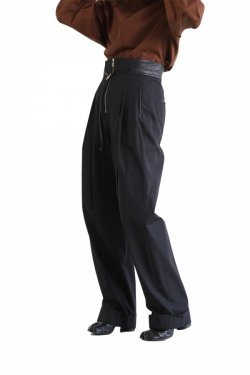 Mame Kurogouchi(マメ) High Waisted Chino Wide Trousers