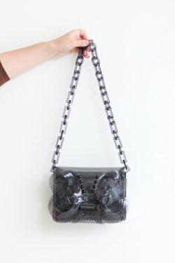 Mame Kurogouchi(マメ) Transparent Sculptural Mini Chain Bag  BLACK