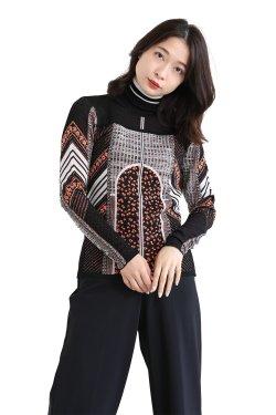 Mame Kurogouchi(マメ) Osmanthus Motif Jacquard Knitted Pullover