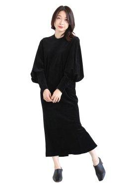 Mame Kurogouchi(マメ) Ribbed Velour Jersey Dress