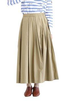 MUVEIL(ミュベール) ボリュームタックスカート  beige
