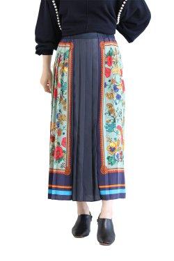 MUVEIL(ミュベール) スカーフプリントスカート