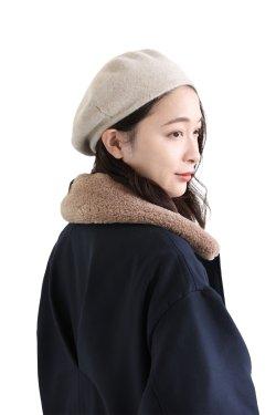 unfil(アンフィル) cashmere knit beret  lightbeige
