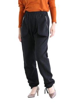 unfil(アンフィル) vintage cotton-fleece tuck pants