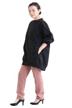unfil(アンフィル) vintage cotton-fleece oversized sweatshirt  smokey black