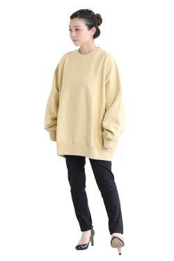 unfil(アンフィル) 【UNISEX】vintage cotton-fleece pullover  lemon grass