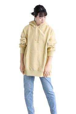 unfil(アンフィル) 【UNISEX】vintage cotton-fleece hoodie  lemon grass