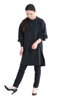 unfil(アンフィル) cotton flannel-jersey 5XL long sleeve Tee  dark teal