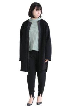 MOOLA KALAH(モーラカーラ) Boa Sweat Coat  black