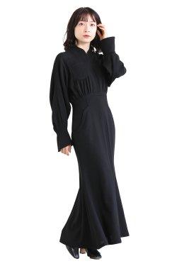 Mame Kurogouchi(マメ) Wool Georgette Flare Dress