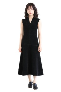 Mame Kurogouchi(マメ) V-Neck Double Faced Knitted Dress