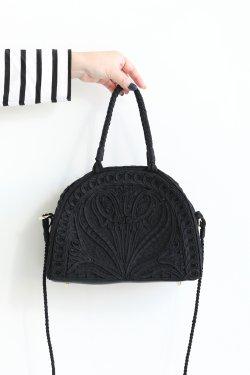 Mame Kurogouchi(マメ) Cording Embroidery Demi Lune Handbag