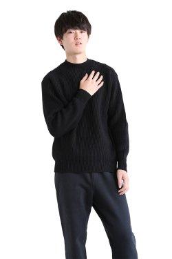 ADAWAS(アダワス) 【UNISEX】SPONGISH STITCH PULL OVER  BLACK