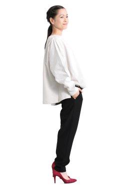 MOOLA KALAH(モーラカーラ) Combination Sweat Pullover  beige