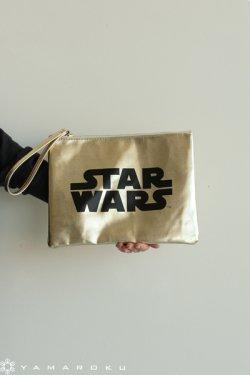 MUVEIL WORK(ミュベールワーク) ロゴクラッチ(STAR WARS)  gold