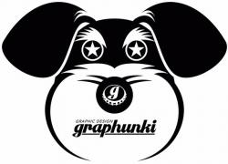 【UVカット加工】graphunki  T-SHIRTS  目が★ BK