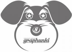 【UVカット加工】graphunki  T-SHIRTS  目が★ GY