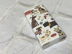 【新品】たのしいワンコ柄 紙ナプキン