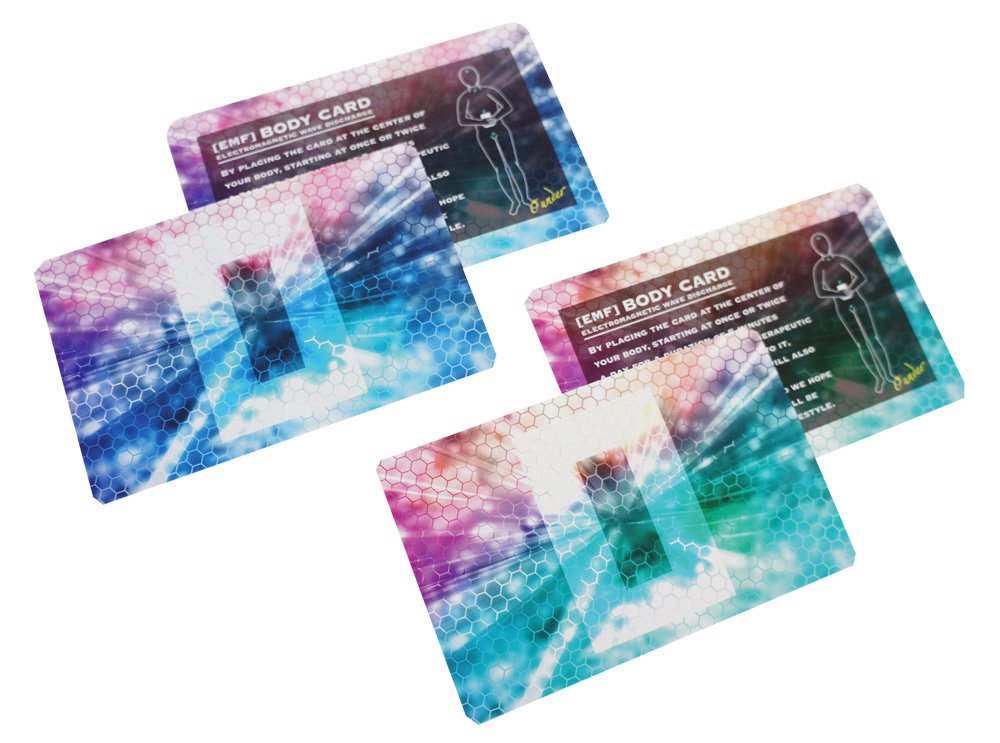 電磁波対策の決定版「電磁波放電カードα 2色セット」